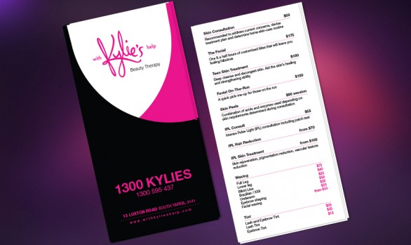 Kylie's Help Price List Flyer