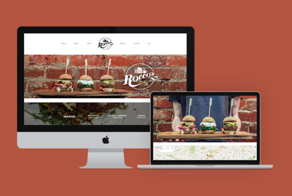 Roccos Burger Cafe Website